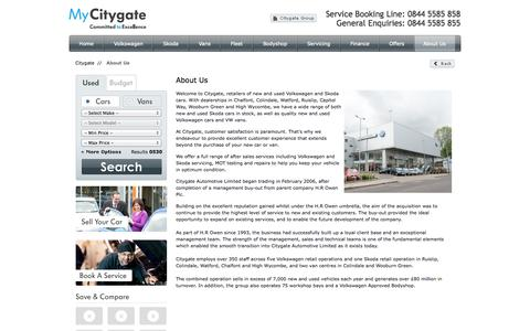 Screenshot of About Page citygate.co.uk - About Us   Company Information   Citygate - captured Oct. 2, 2014