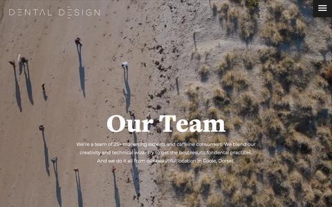 Screenshot of Team Page dental-design-products.co.uk - Team | Dental Marketing | Dental Website Design | Social Media - captured Feb. 4, 2019