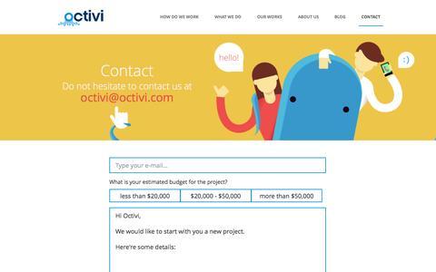 Screenshot of Contact Page octivi.com - Contact - Octivi - captured Oct. 27, 2014