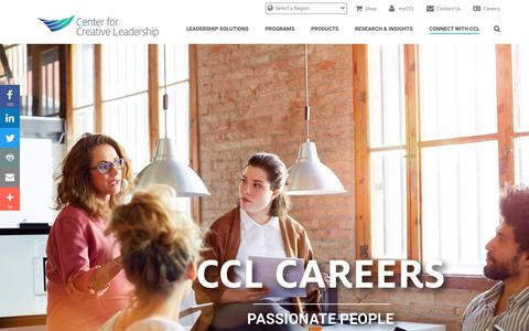 Screenshot of Jobs Page ccl.org - Career Opportunities at Center for Creative Leadership | CCL - captured Dec. 26, 2017