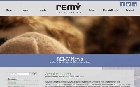 Screenshot of Press Page remycorp.com - News - Remy Corporation - captured Nov. 3, 2014