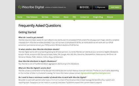Screenshot of FAQ Page inscribedigital.com - Frequently Asked Questions | INscribe Digital - captured Sept. 30, 2014