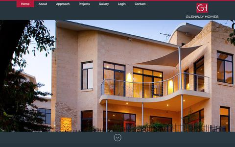 Screenshot of Home Page glenwayhomes.com.au - Home Builders Perth | Knock Down Rebuild | Glenway Homes - captured July 19, 2018