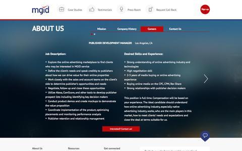 Screenshot of Jobs Page mgid.com - MGID: Native Advertising Marketplace - captured Oct. 2, 2015