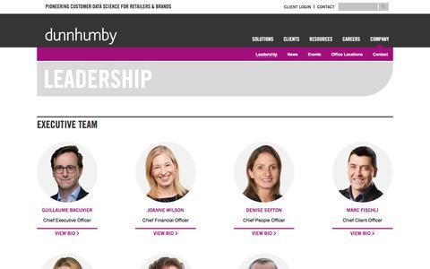 dunnhumby - Leadership Team