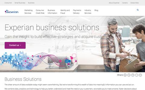 Business Services - Experian UK