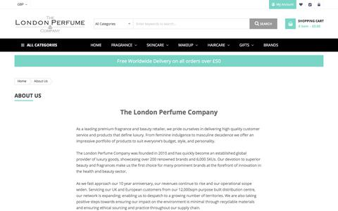 Screenshot of About Page thelondonperfumecompany.com - About Us The London Perfume Co. - captured Sept. 23, 2019