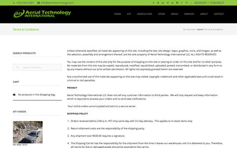 Screenshot of Terms Page aerialtechnology.com - Terms & Conditions - captured Feb. 5, 2016