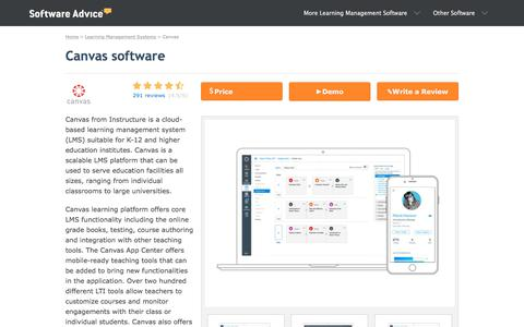 Canvas Software - 2018 Reviews, Pricing & Demo