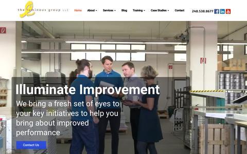 Screenshot of Home Page luminousgroup.com - The Luminous Group, LLC - captured Oct. 20, 2018