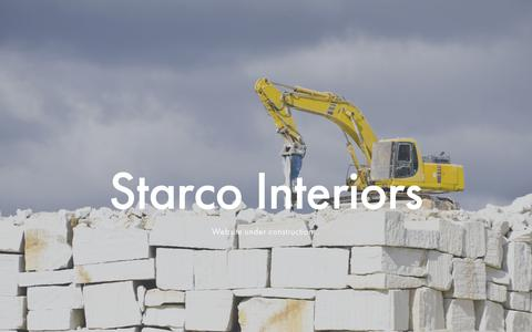 Screenshot of Home Page starcointeriors.com - Starco Interiors - captured Feb. 23, 2016