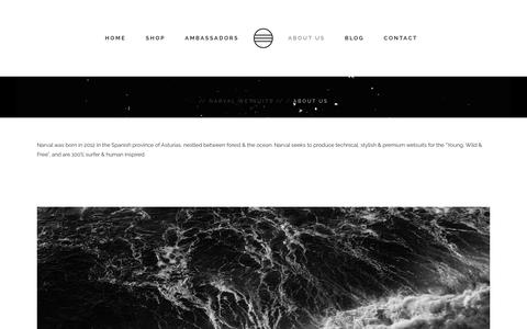Screenshot of About Page narvalwetsuits.com - About Us | Narval Wetsuits - captured Feb. 27, 2016