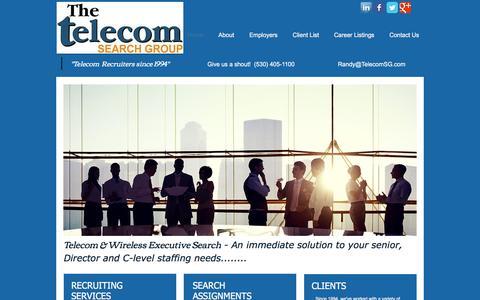 Screenshot of Home Page telecomsg.com - Telecom Recruiters - captured Oct. 20, 2017
