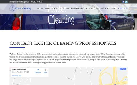 Screenshot of Contact Page exeterofficecleaning.co.uk - Contact – Exeter Office Cleaning - captured Sept. 30, 2018