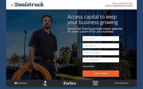 Screenshot of Landing Page dealstruck.com - LP2 | Dealstruck - captured Oct. 27, 2014