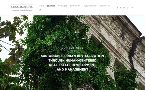 Screenshot of About Page conservatoriosa.com - Conservatorio S.A.  Our business - Conservatorio S.A. - captured Nov. 5, 2018