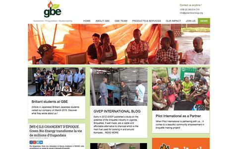 Screenshot of Press Page greenbioenergy.org - GBE-NEWS - captured Nov. 15, 2016