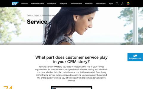 Screenshot of Support Page sap.com - Customer Service, Contact, and Call Center Software Solutions | SAP - captured Nov. 16, 2018