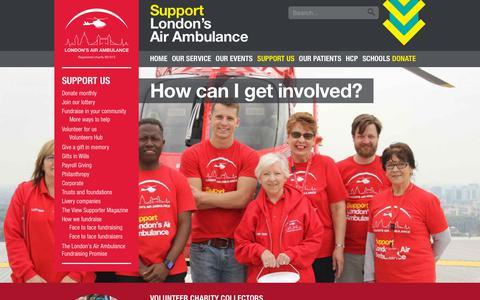 Screenshot of Signup Page londonsairambulance.co.uk - Volunteering roles – London's Air Ambulance - captured Oct. 26, 2018