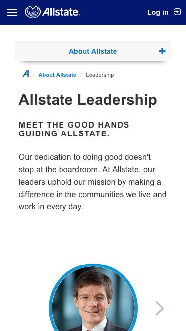 Screenshot of Team Page  allstate.com - Allstate Leadership | Allstate Insurance