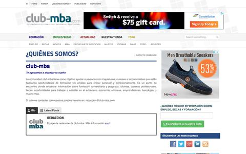 Screenshot of About Page club-mba.com - ¿Quiénes somos? | club-mba.com - captured July 19, 2018