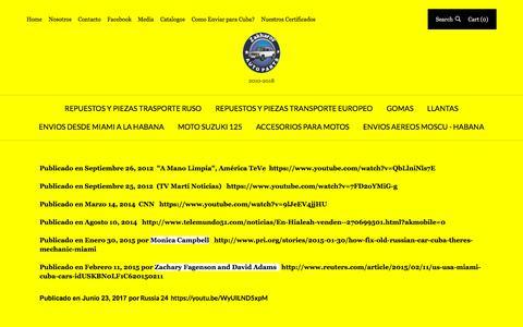 Screenshot of Press Page piezasladaparacuba.com - Media   Genuine European Auto Spare Parts - captured July 9, 2018