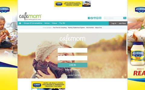 Screenshot of Login Page cafemom.com - Login   - CafeMom - captured April 7, 2016