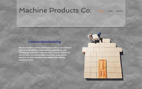 Screenshot of Home Page macpro1.com - Machine Products Company - captured Oct. 4, 2014
