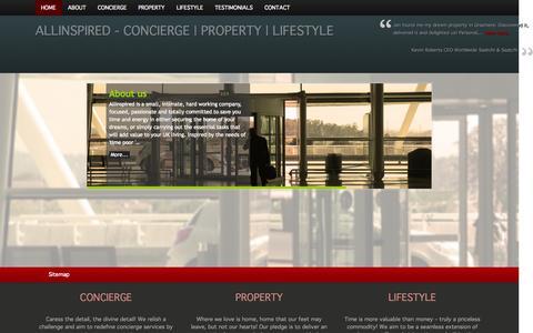 Screenshot of Home Page allinspired.co.uk - ALLINSPIRED - captured Sept. 30, 2014