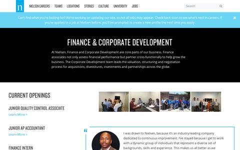 Finance & Corporate Development – Nielsen Careers