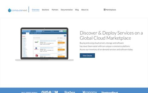Screenshot of Home Page Terms Page computenext.com - Cloud Computing & IaaS Marketplace | ComputeNext - captured Sept. 13, 2014