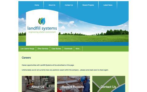 Screenshot of Jobs Page landfillsystems.co.uk - Careers - captured Jan. 7, 2020