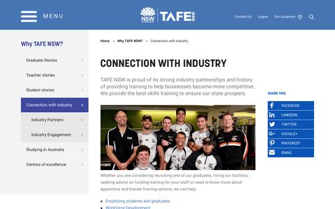 Connection with industry - TAFE