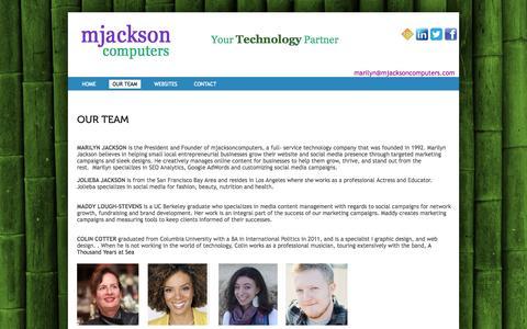Screenshot of Team Page mjacksoncomputers.com - mjacksoncomputersOUR TEAM | mjacksoncomputers - captured Oct. 6, 2014
