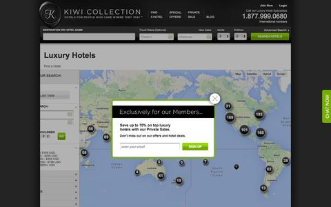 Screenshot of Maps & Directions Page kiwicollection.com - Search Luxury Hotels and Resorts | Kiwi Collection - captured Sept. 19, 2014