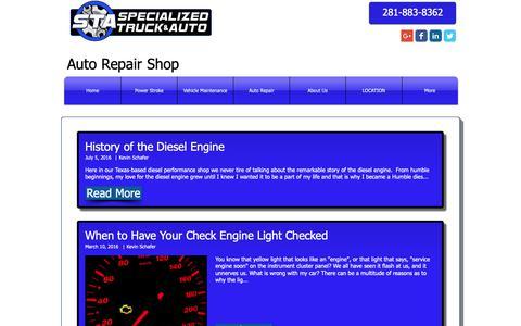 Screenshot of Blog specializedtruckandauto.com - auto-repair-humble | Blog - captured Nov. 19, 2018