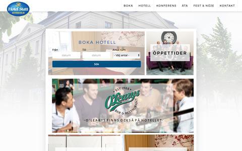 Screenshot of Home Page hotelstatt.se - Start - Hotel Statt - captured Sept. 30, 2018