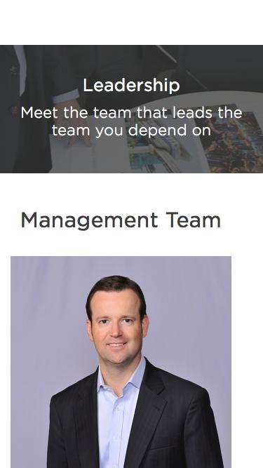 Screenshot of Team Page  aconex.com - Leadership | Aconex