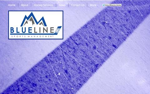 Screenshot of Home Page blueline-sports.com - Blue Line Sports Management, LLC - Hockey Agency & Family Advisors - captured Oct. 5, 2014