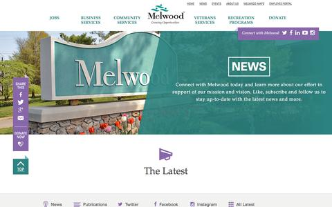 Screenshot of Press Page melwood.org - News | Melwood - captured Nov. 28, 2016