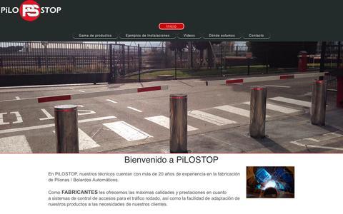 Screenshot of Home Page pilostop.com - Pilostop - Fabricante de Pilonas Automaticas - Inicio - captured May 17, 2017