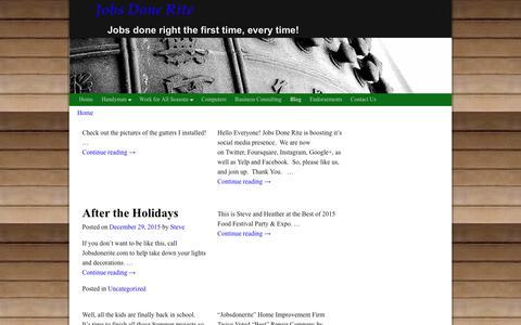Screenshot of Blog jobsdonerite.com - Blog – Jobs Done Rite - captured Feb. 12, 2016