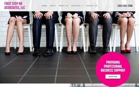 Screenshot of Home Page firststephrassociates.com - First Step HR Associates, LLC - captured Nov. 6, 2018