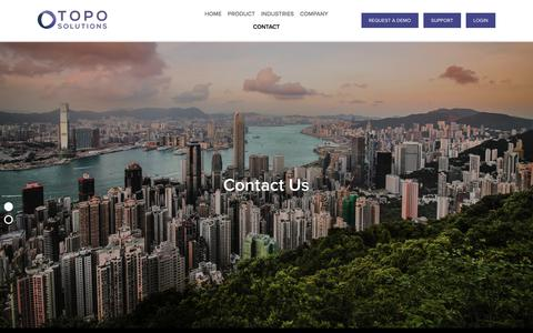 Screenshot of Contact Page topo.cc - Contact — TOPO - captured July 9, 2018