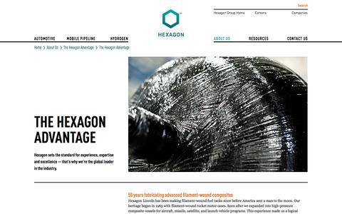 Screenshot of About Page hexagonlincoln.com - The Hexagon Advantage - Hexagon Lincoln - captured July 19, 2018