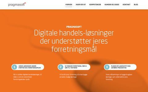 Screenshot of Home Page pragmasoft.dk - Vžrdiskabende B2B e-handelslżsning - Pragmasoft.dk - captured Dec. 10, 2015