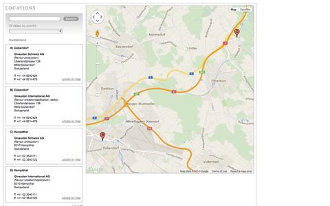 Screenshot of Locations Page givaudan.com - Givaudan Locations - captured Nov. 4, 2014