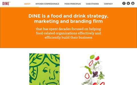 Screenshot of About Page dinemarketing.com - About » DINE Marketing - captured Oct. 5, 2014