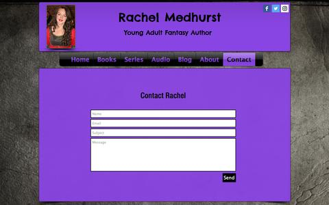 Screenshot of Contact Page rachelmedhurst.com - Contact - captured Sept. 8, 2016