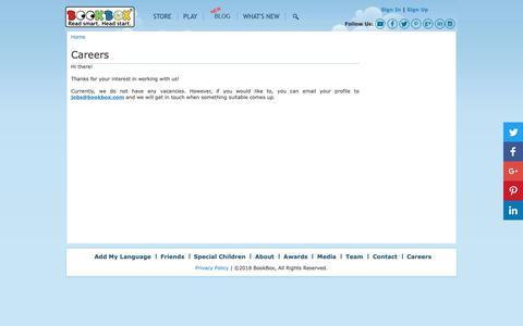 Screenshot of Jobs Page bookbox.com - Careers   BookBox - captured Oct. 6, 2018